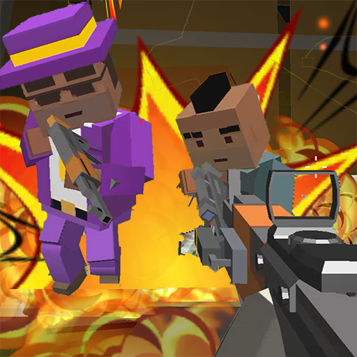 GunGame shooting warfare blocky gangster